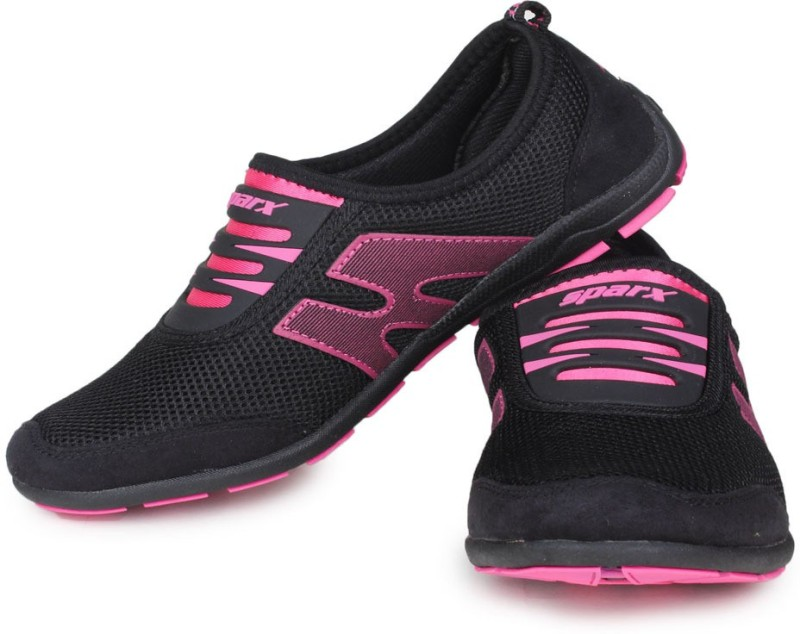 Sparx Stylish Black Pink Running ShoesBlack Pink