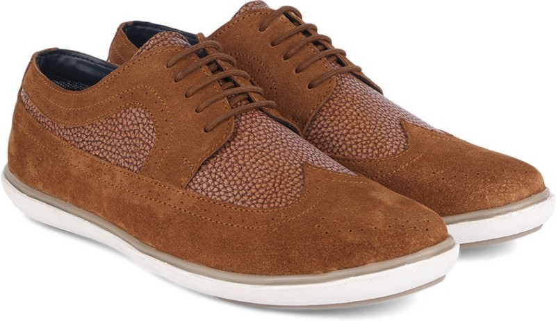 Provogue Genuine Leather Corporate Casuals For Men(Tan)
