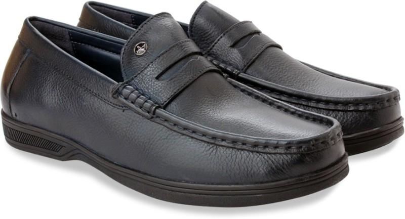 Arrow Formal Moc Loafers For Men(Navy)