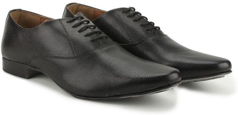 Knotty Derby Elphias Oxford Lace Up For Men(Black)