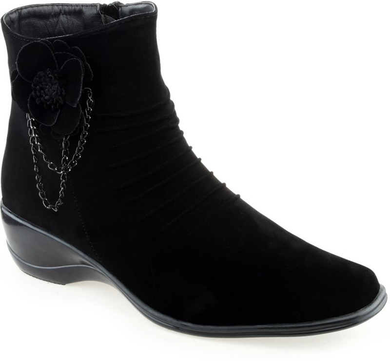 Shuz Touch Boots For Women(Black)