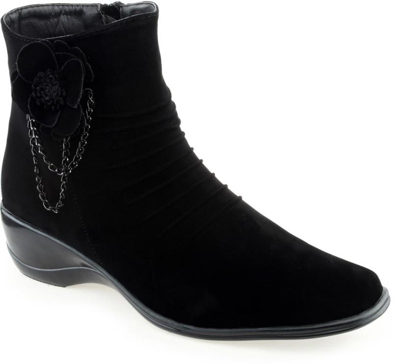 Shuz Touch Women's Boots For Women(38, Black) image