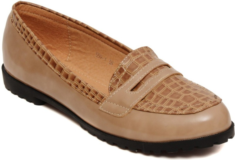 Flat n Heels Loafers For Women(Beige)
