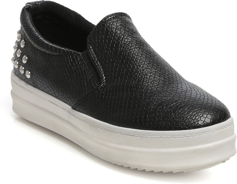 TEN Casual Moccasin Mocassin For Women(Black)