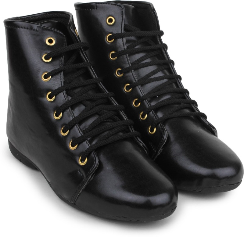 Do Bhai Ankle-Boot-Black Boots For Women(Black)