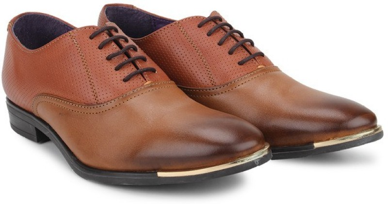 Knotty Derby Vincent Oxford Lace Up For Men(Tan)