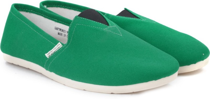 United Colors of Benetton Men Loafers For Men(Green)