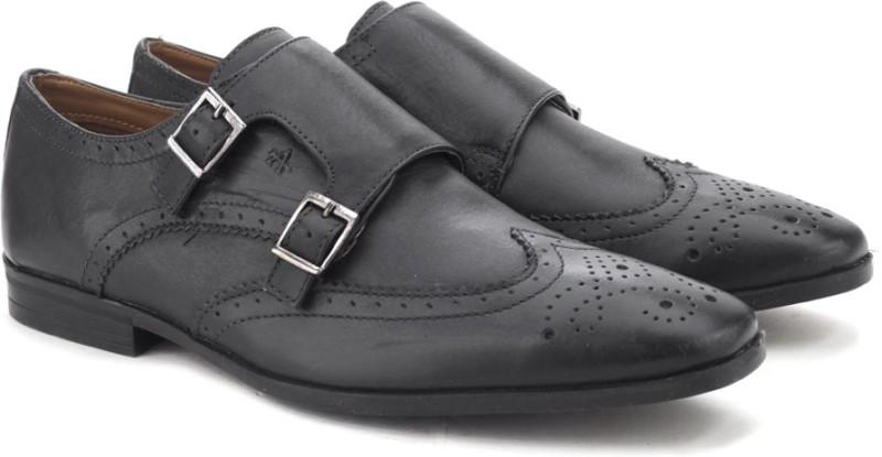 Arrow Monk Strap shoes For Men(Black)