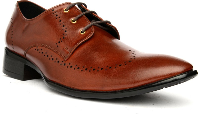 Bruno Manetti 9950 Lace Up Shoes For Men(Tan)