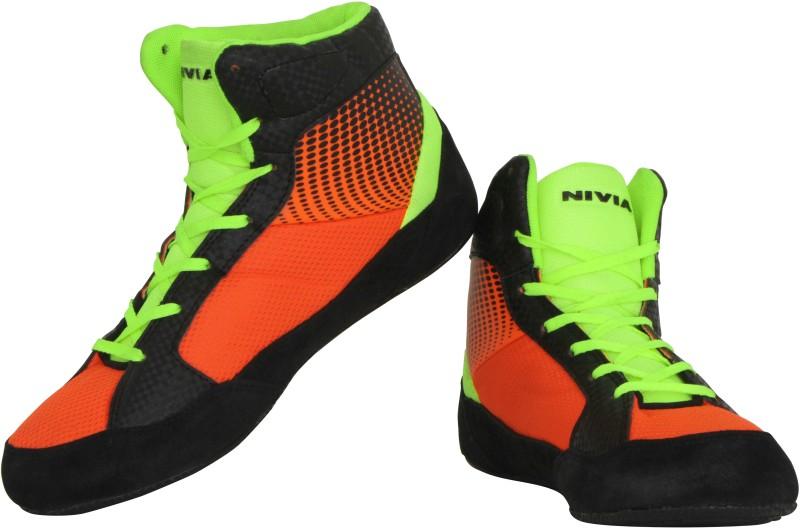 Nivia New Wrestling Shoes For Men(Orange, Black)