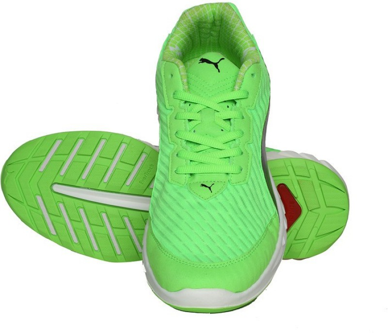 Puma IGNITEUltimatePWRCOOL Running Shoes(Green)