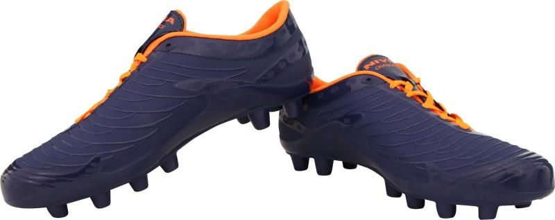 Nivia Dominator Football Shoes For Men(Blue, Orange)