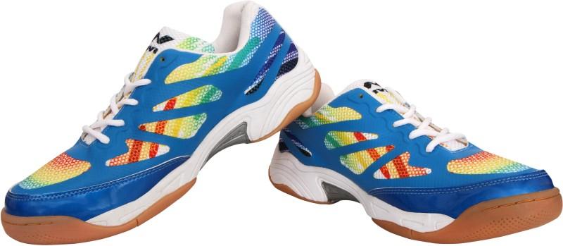 Nivia Musket Badminton Shoes For Men(White, Blue)