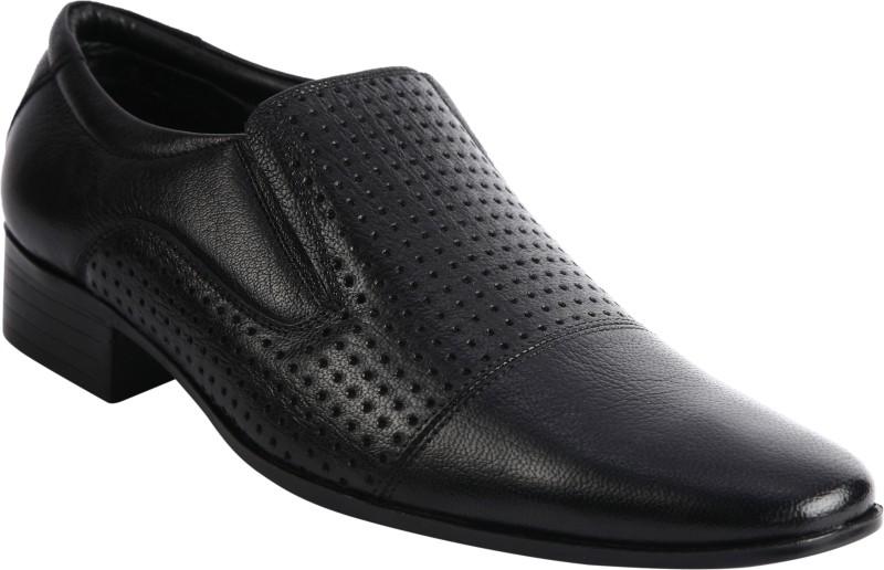 Bacca Bucci KP-37 Slip On Shoes For Men(Black)