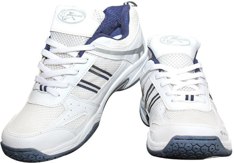 Zigaro Badminton Shoes For Men(White)