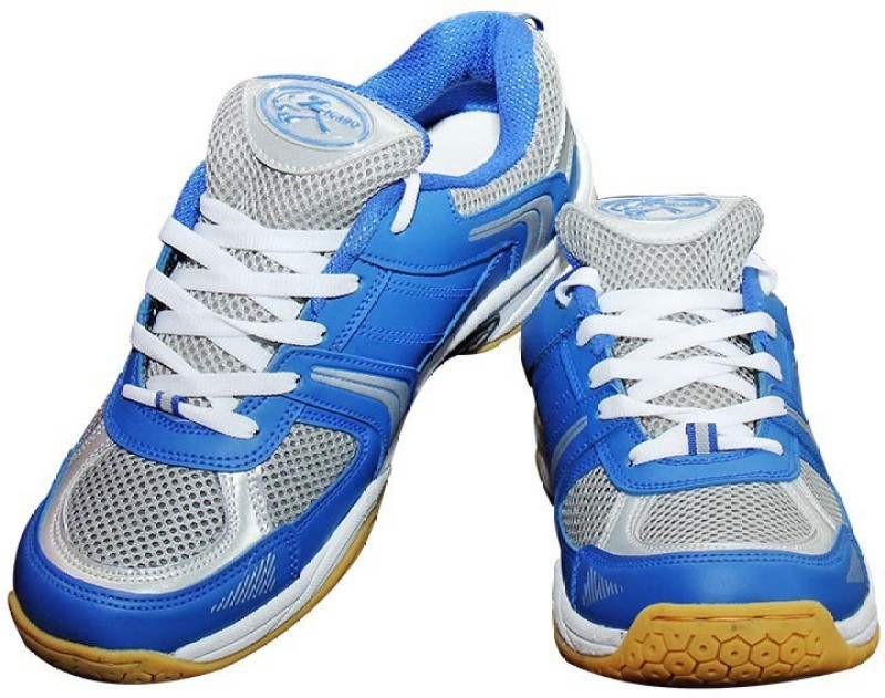 Zigaro Badminton Shoes(Blue, Silver)
