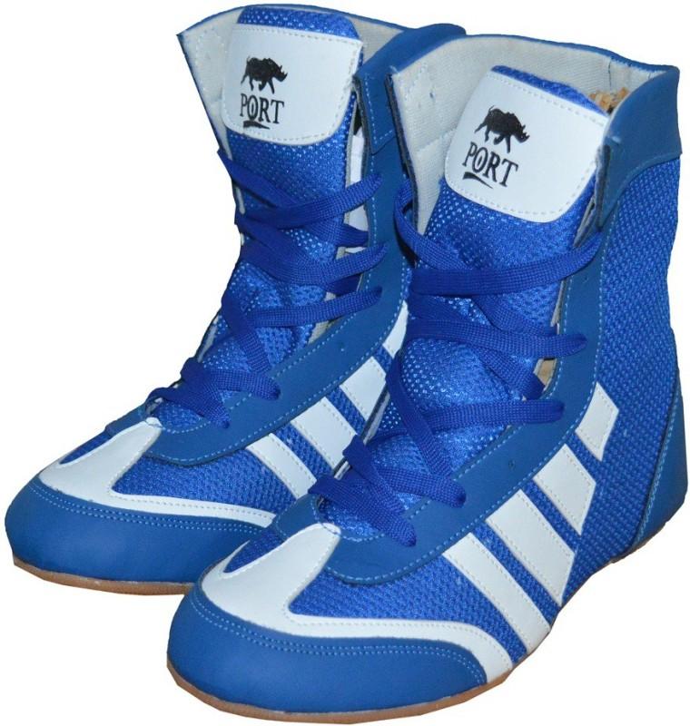 Port Pro-Combbat Boxing & Wrestling Shoes For Women(Blue)