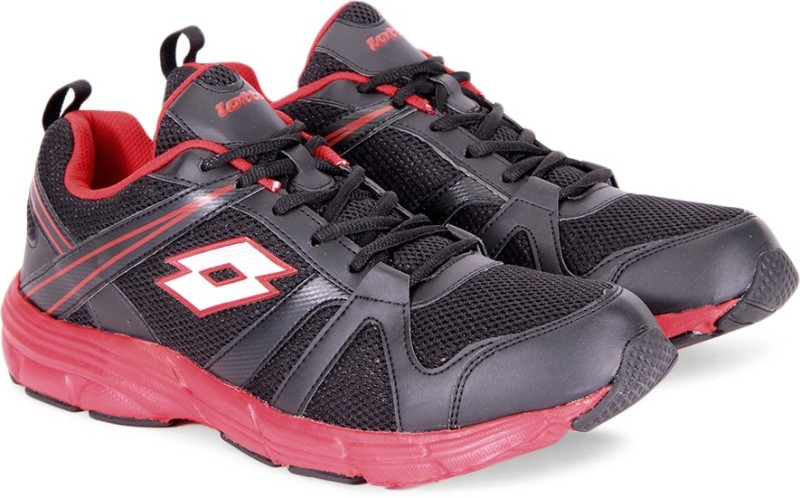 Lotto ELEVATE Running Shoes For Men(Black, Red)