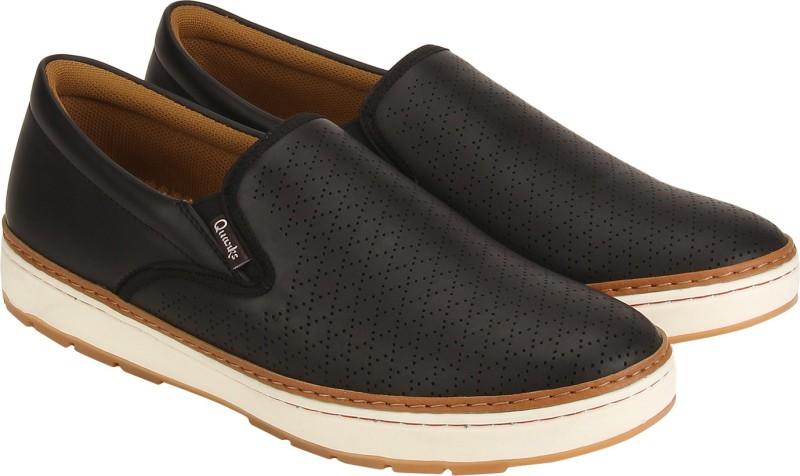 Quarks Loafers For Men(Black)