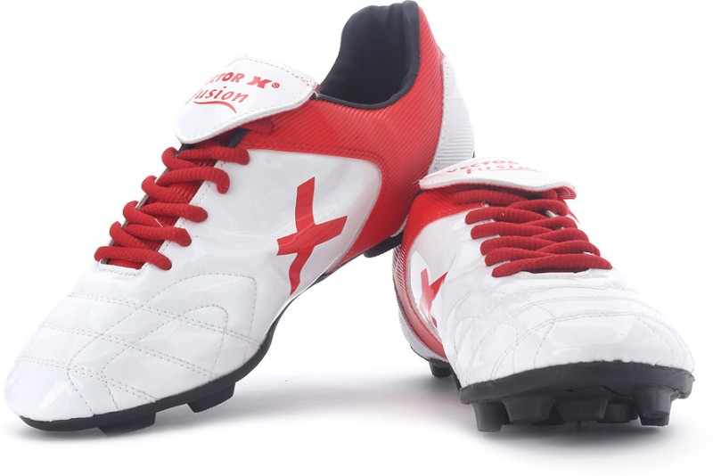 Vector X Fusion Men's Football Shoes For Men(8, Black, White, Red) image