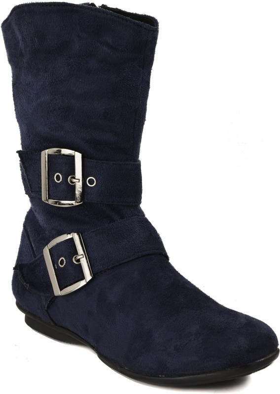 Bruno Manetti Aiimaa Women's Boots For Women(39, Blue) image