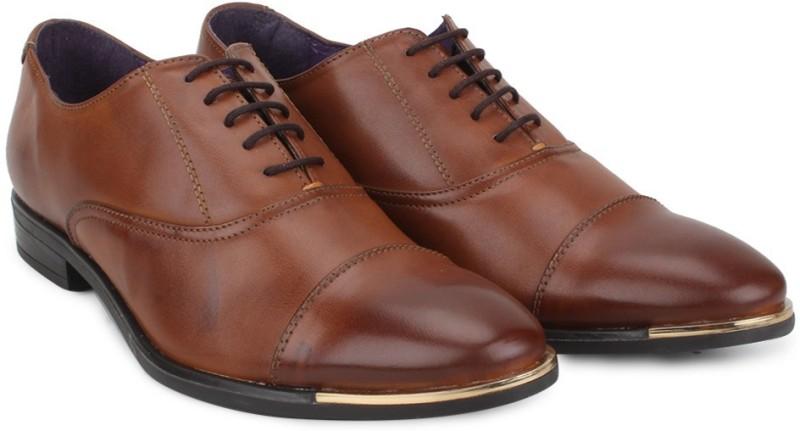 Knotty Derby Vincent Toe Cap Oxford Lace Up(Tan)