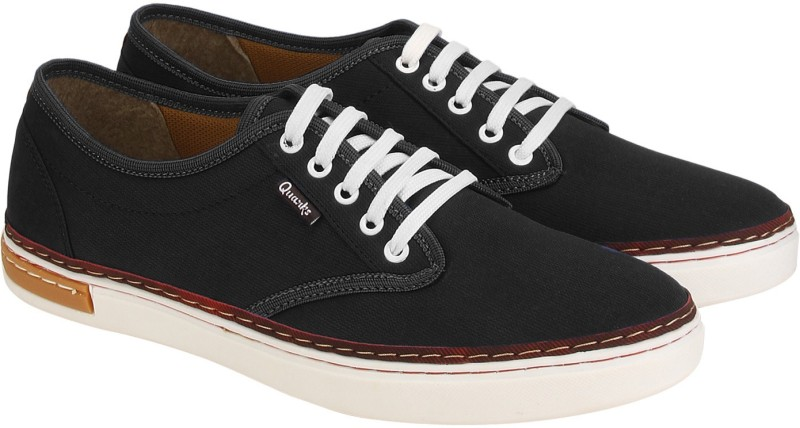 Quarks Canvas Shoes For Men(Black)