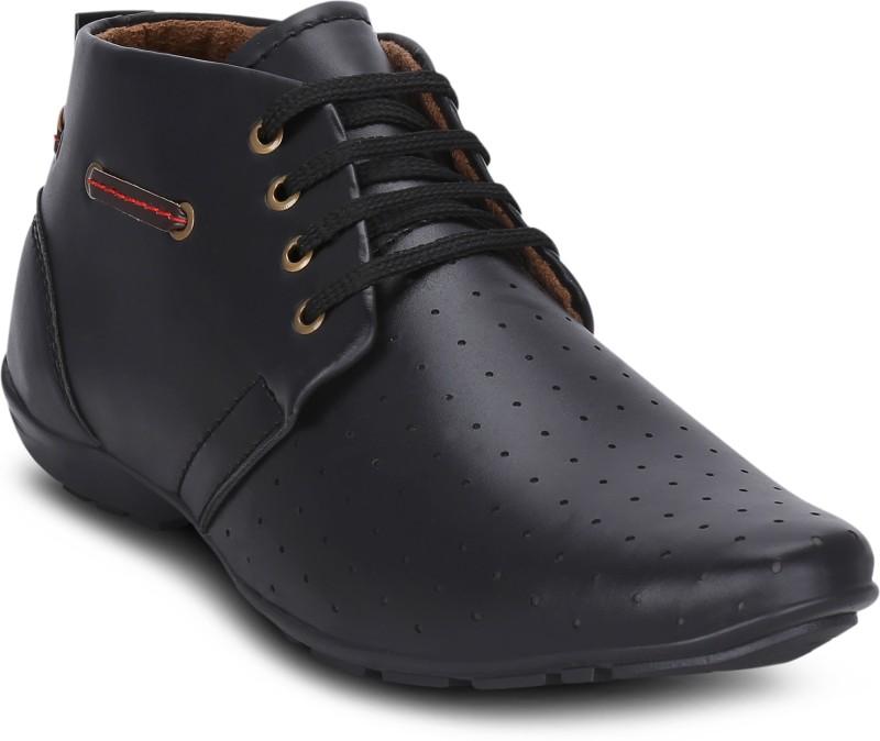 Get Glamr Carl Boots For Men(Black)