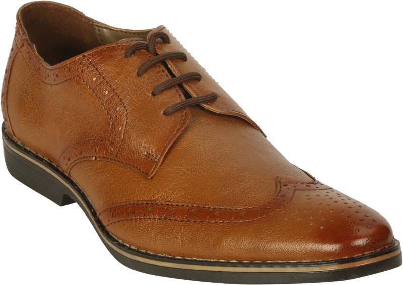 Bacca Bucci Lace Up Shoes For Men(Tan)