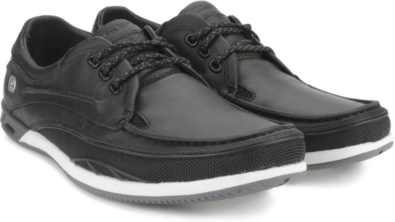 Clarks ORSON LACE BLACK LEATHER Loafers For Men(Black)