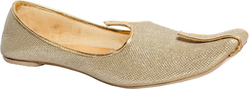 Do Bhai Panjabi - Jutty Men's Mocassin For Men(10, Gold) image