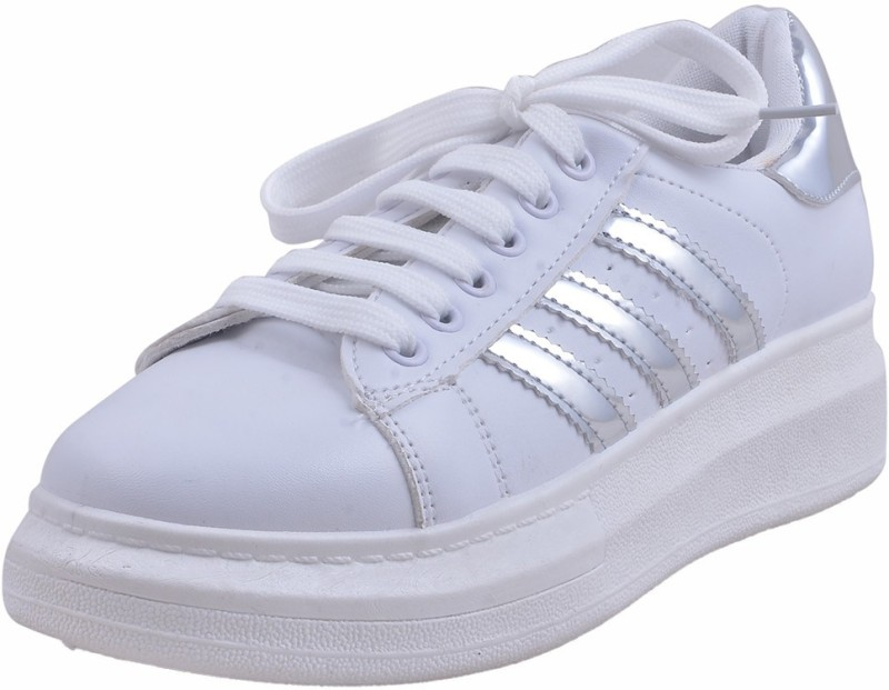Adorn Active and Cool Sneakers(Silver) Active and Cool
