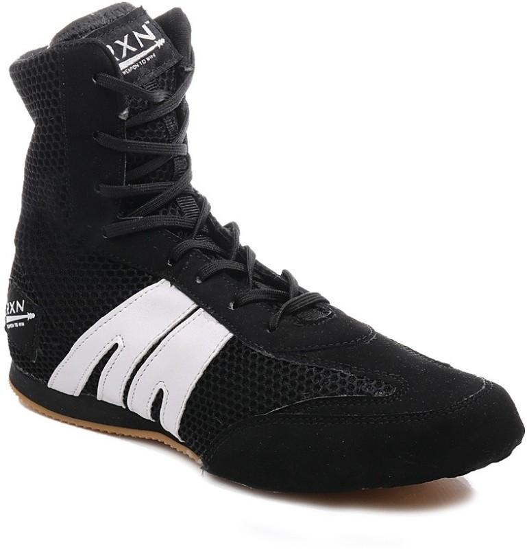 RXN Black Boxing & Wrestling Shoes For Men(Black, White)