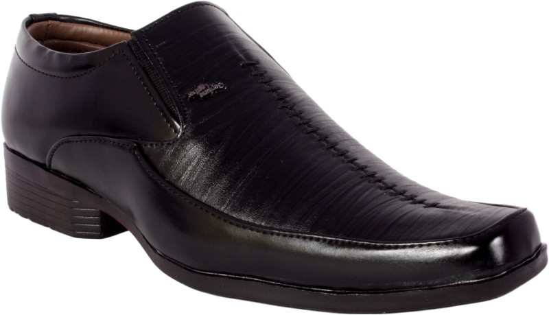 ShoeAdda Slip On Shoes(Black)