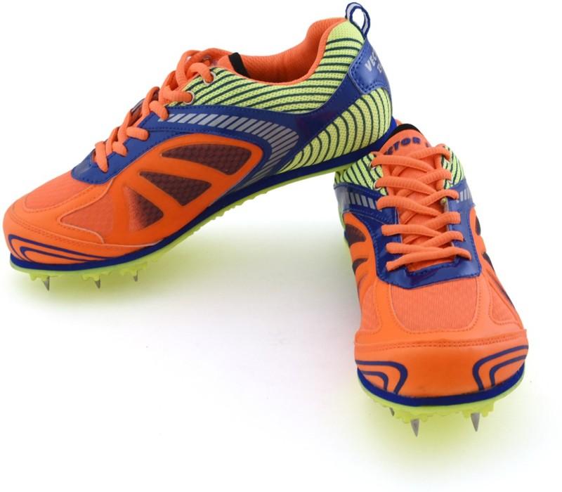 Vector X Bolt Spike Women's Running Shoes For Women(2, Orange, Blue, Green) image