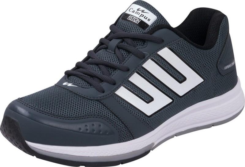 Campus Aston Running Shoes For Men(Grey, Black, White)