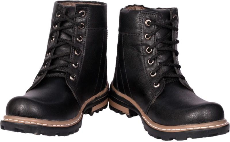 Prolific Monk Strap Boots For Men(Black)