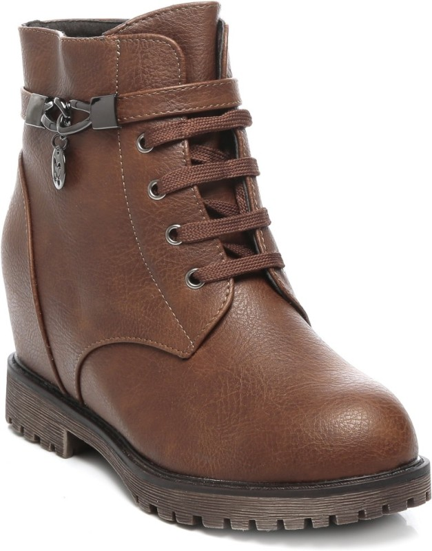 TEN Party & Casual Boots Boots For Women(Brown, Tan)