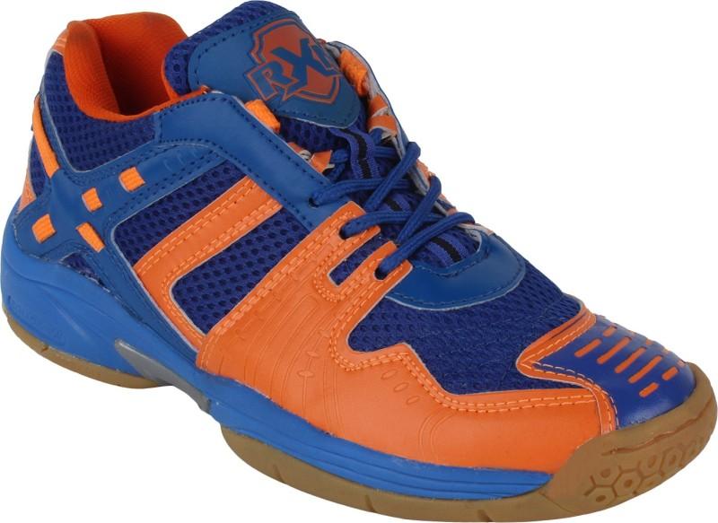 RXN Men's Badminton Shoes For Men(10, Blue, Orange) image