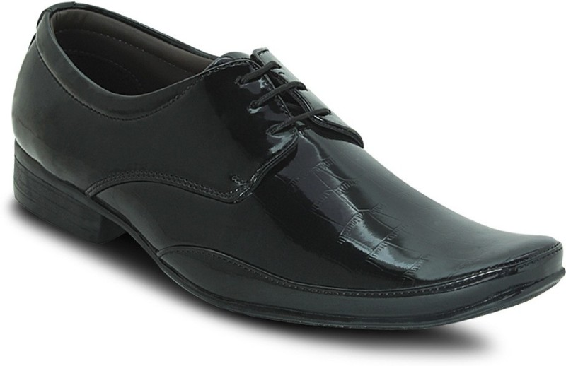 Get Glamr PATENT LACE UP Lace Up For Men(Black)