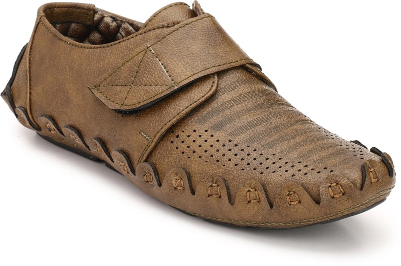 ZebX Loafers For Men(Tan)