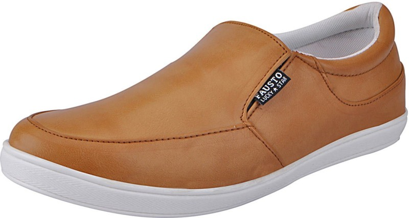 FAUSTO Mens Loafers For Men(Tan)