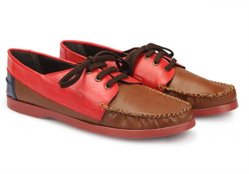 Knotty Derby Quoddy Derby Boat Shoes For Men(Tan)