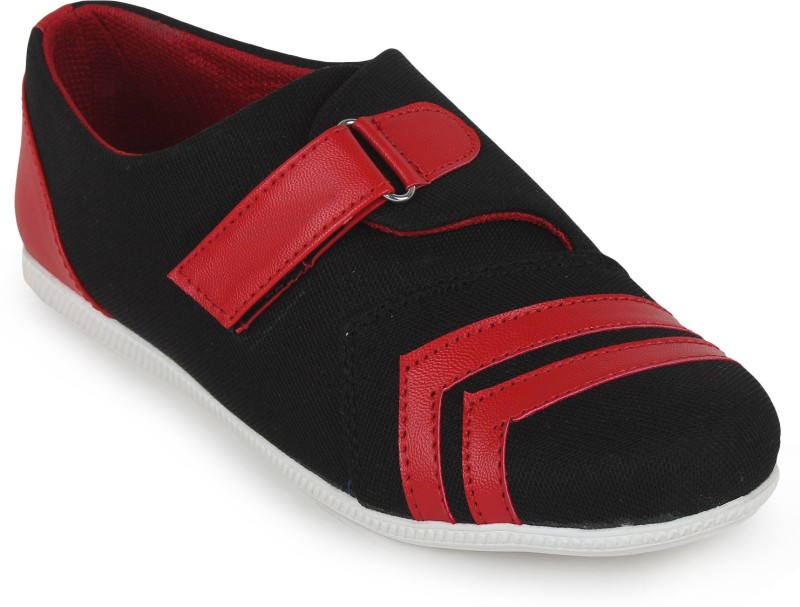 Scantia Loafers For Women(Black, Red)