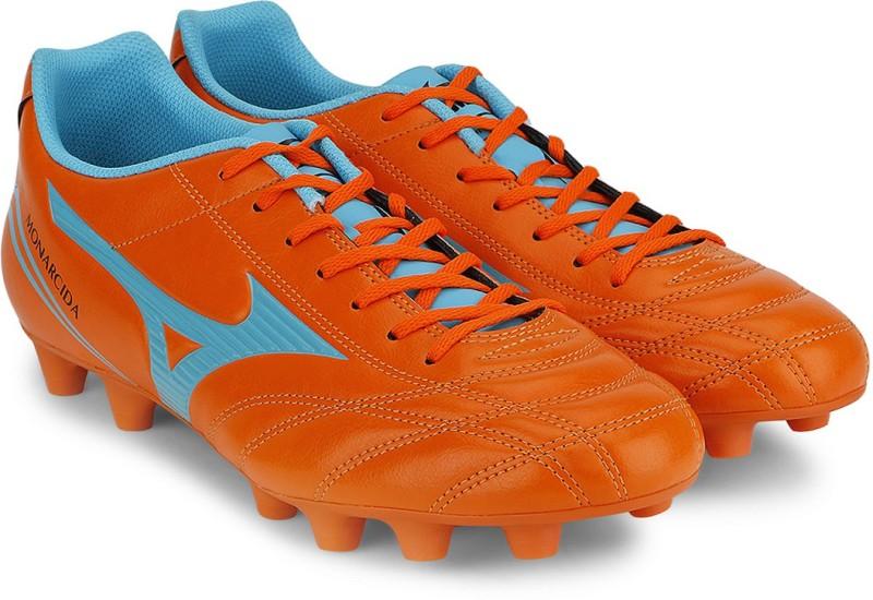 Mizuno Monarcida Fs Md (Wide) Football Shoes For Men(Orange, Blue)