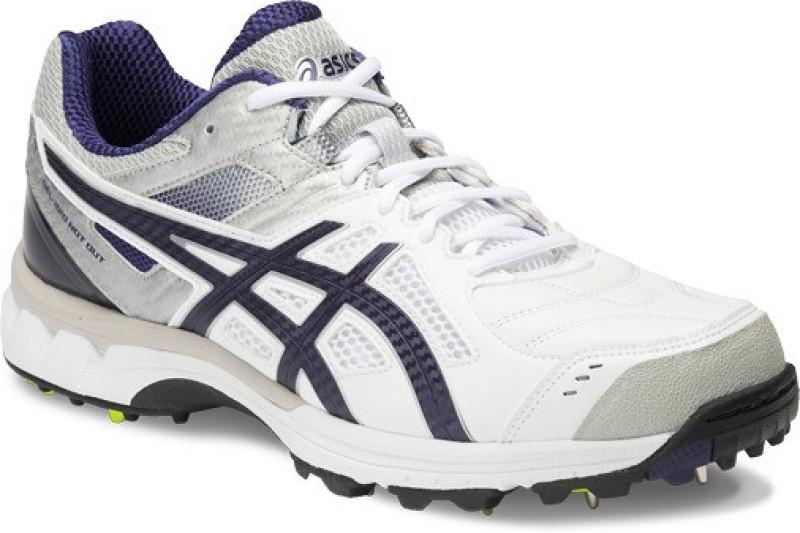 Asics Gel-220 Not Out Men Cricket Shoes For Men(White, Blue, Silver)