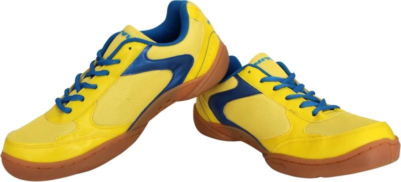 Nivia Flash Badminton Shoes For Men(Yellow, Blue)
