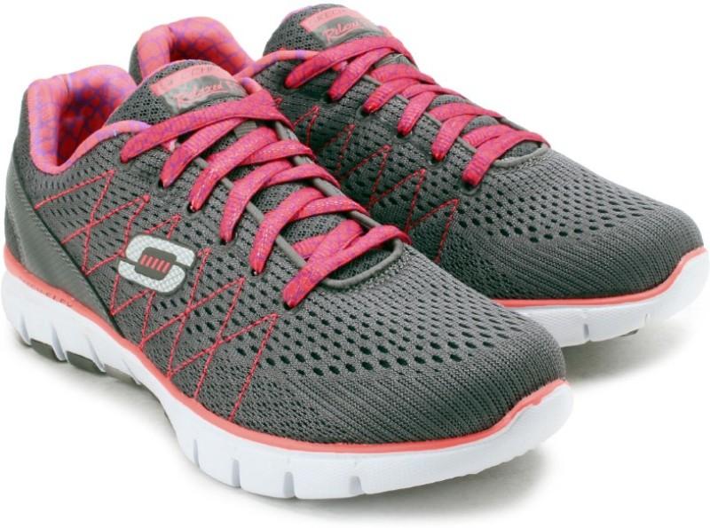 Skechers Skech-Flex Gym  Fitness ShoesGrey Pink