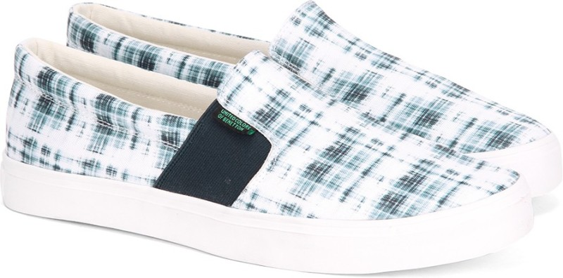 United Colors of Benetton Men Loafers For Men(Navy, White)