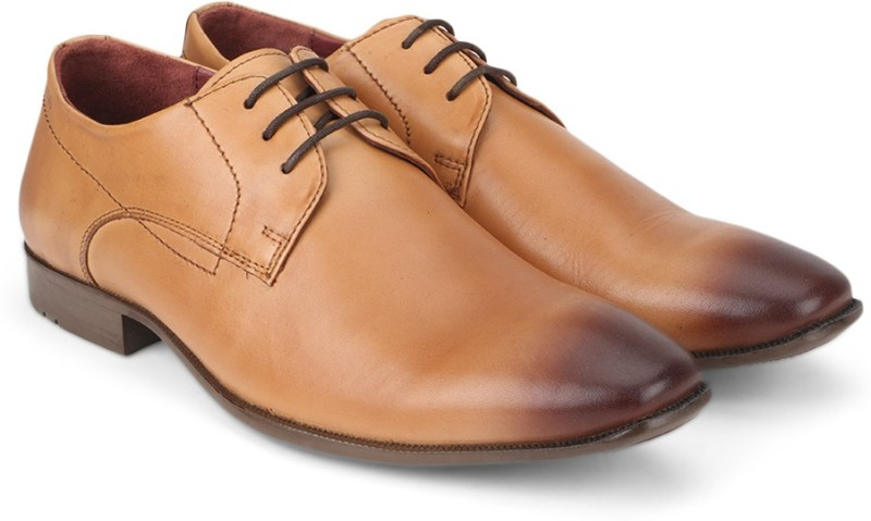 Woods Genuine Leather by Woodland Lace Up Shoes For Men(Tan)